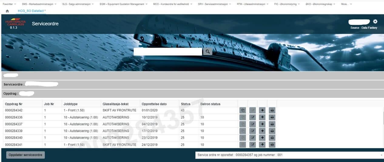 Detailed information hurtigruten carglass software