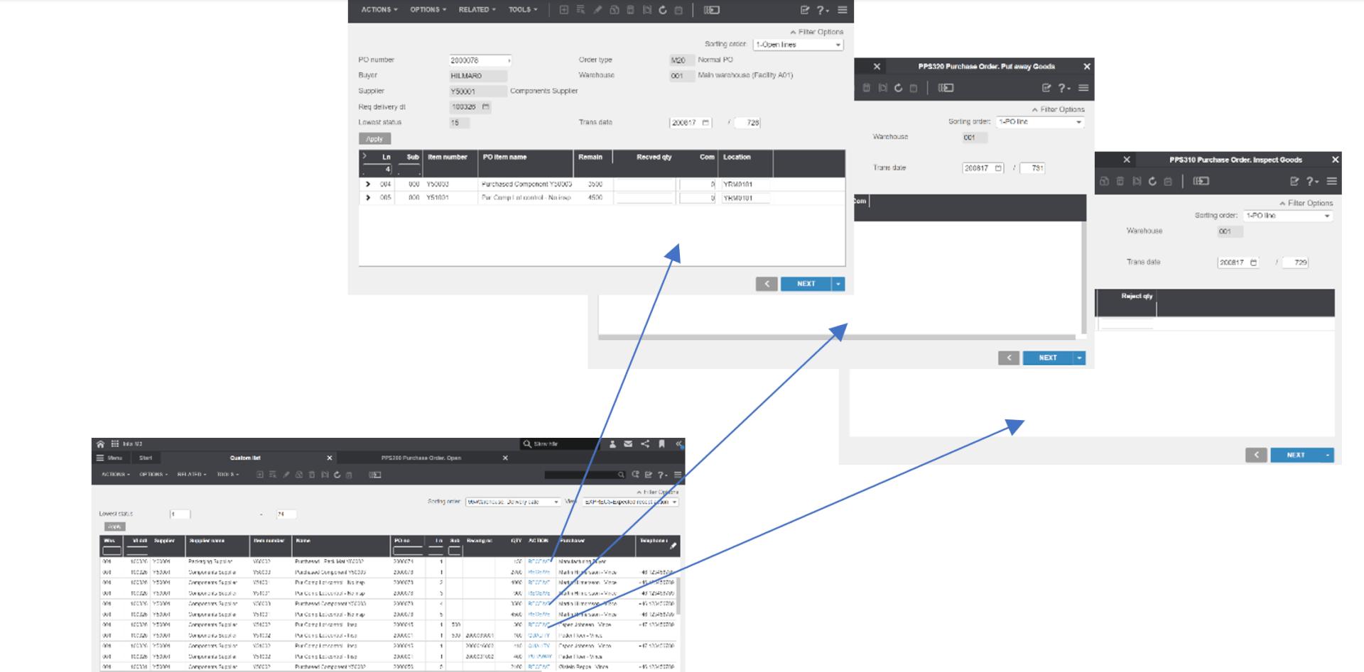 Infor m3 example window